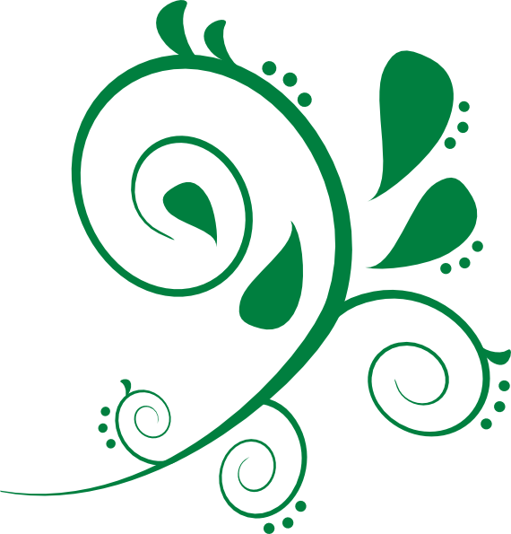 Green Swirl Clip Art.