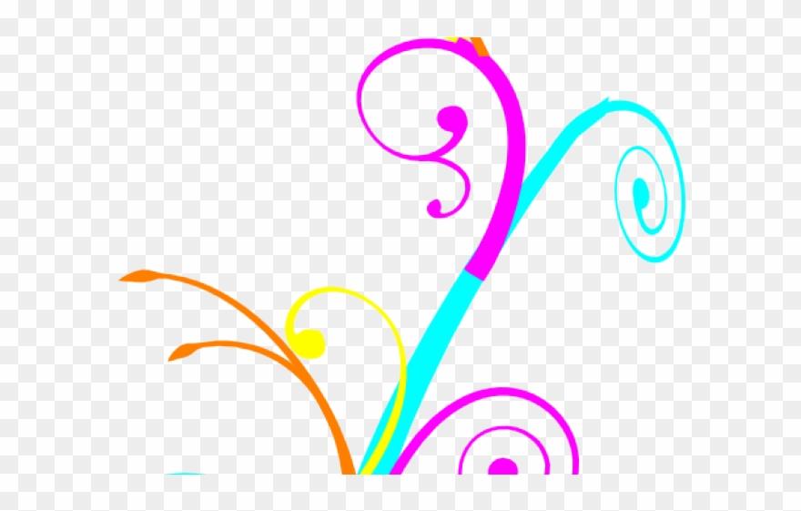 Swirls Clipart Cute.