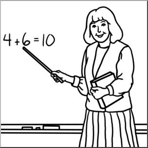 Clip Art: Teacher B&W I abcteach.com.