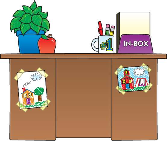 Teacher Desk Clipart.