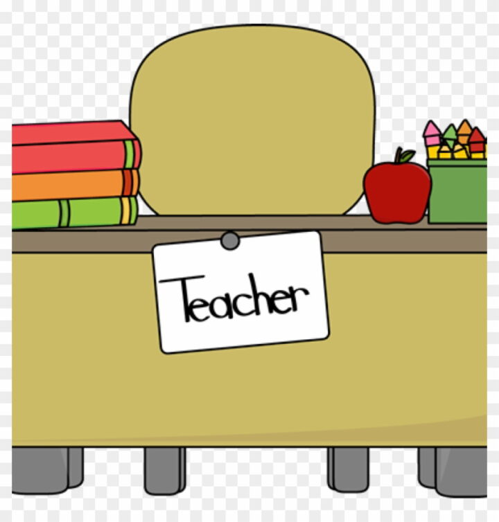 Desk Clipart Teachers Desk Clip Art Teachers Desk Vector.