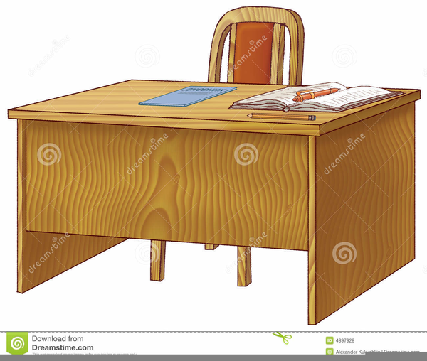 Teachers Desk Clipart.