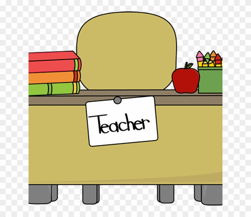 Teacher\'s Desk Clip Art Teacher\'s Desk Vector Image.