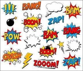 Superhero Clipart Comic Book Clip Art Comic Text by.