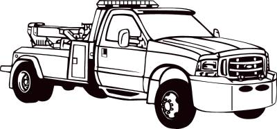 Tow Truck Clipart Black And White Clipground