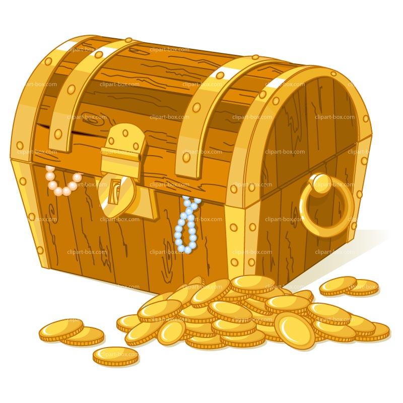 Clip art treasure chest.