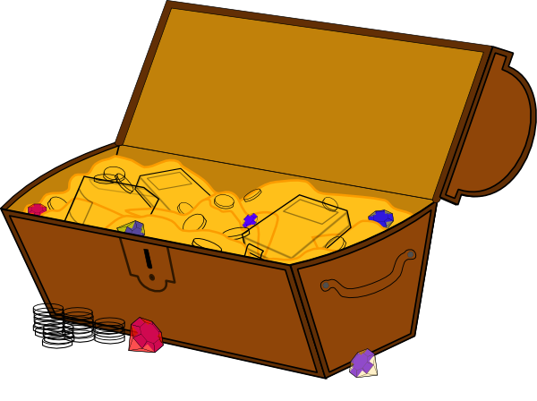 Free treasure chest clip art images.