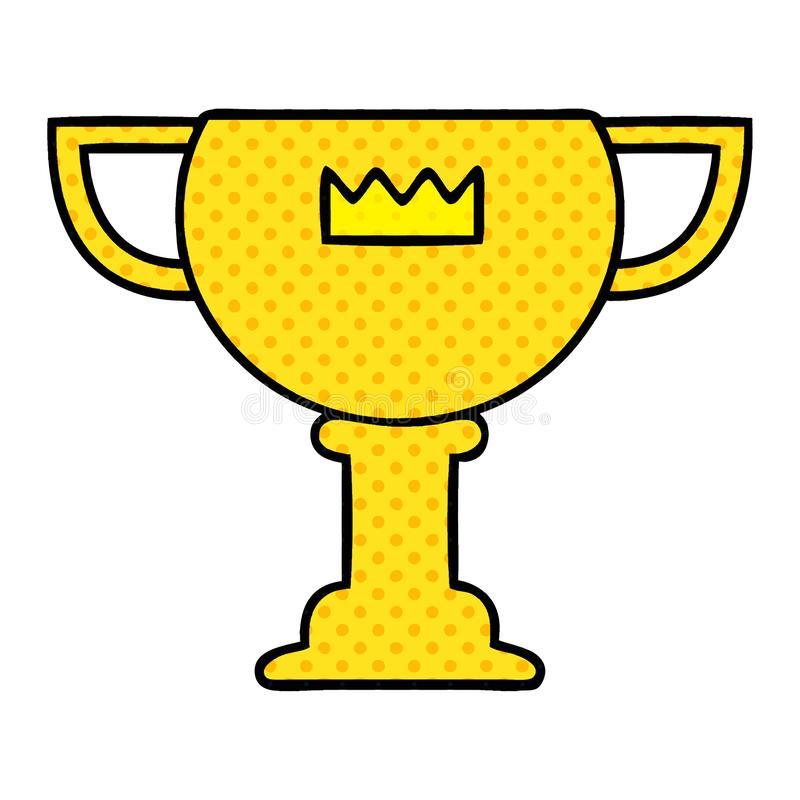 Cartoon Gold Cup Reward Award Cute Illustration Retro Freehand Free.