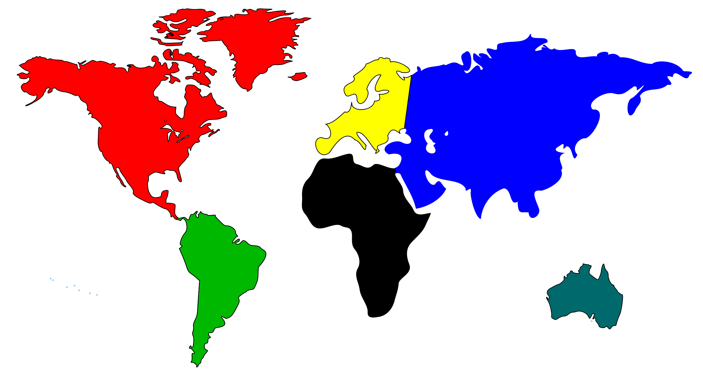Map of the world clipart #13