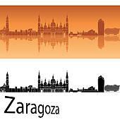 Zaragoza Skyline Clip Art.