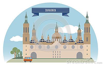 Zaragoza Stock Illustrations.