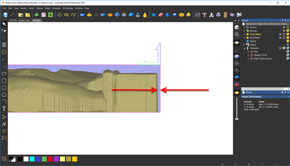Prevent outside pass on 3d relief toolpath?.
