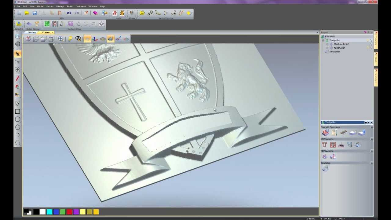 Working with 3D Clipart in ArtCAM Express 2011.