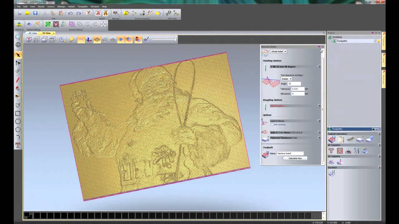 Getting Started In CNC With ArtCAM Express 2012.