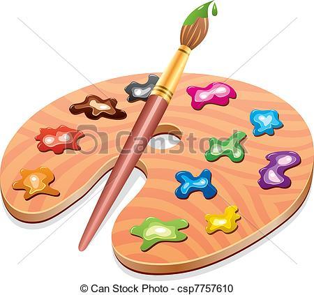 Vector Clip Art de paleta, arte, Gotas, de madera, Pintura.