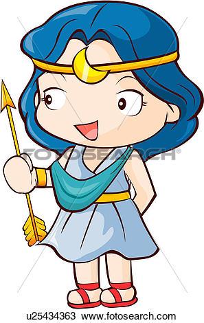 Clipart of god, myth, artemis, greek mythology, mythical.