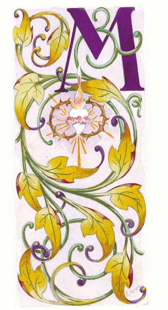 Eulogio Varela. Diseño letra capital M para la serie Los dolores.
