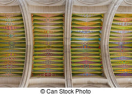 Stock Images of ornate ceiling tile.