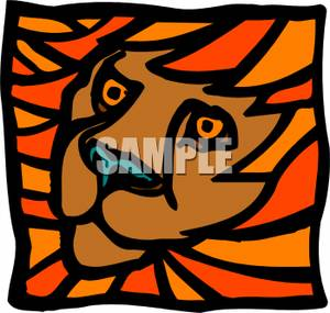 Artful_Lion_Face_Royalty_Free_Clipart_Picture_110410.
