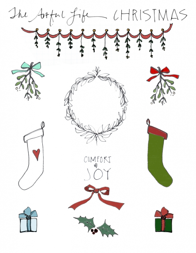 free christmas clip art, printables for art journal friday! » The.