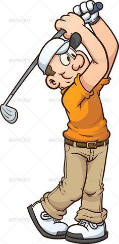 Funny Golfer Clip Art.
