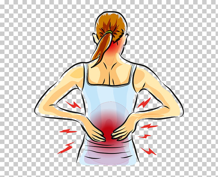 Low back pain Human back Muscle pain Arthritis, others PNG.