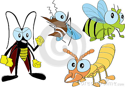 Cartoon Graphic Insects And Arthropod Royalty Free Stock Images.