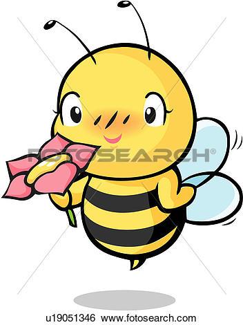 Clip Art of anthropods, flowe, arthropod, animal, bee, anthropoda.
