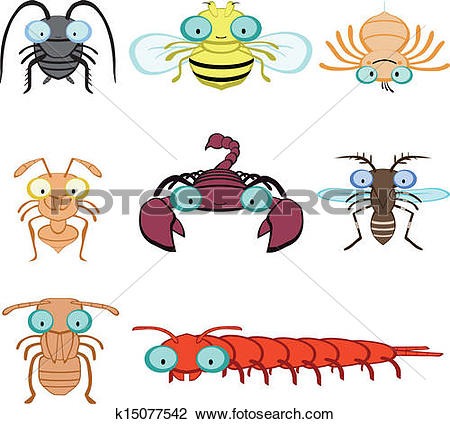 Clipart of Graphic insects and arthropod k15077542.