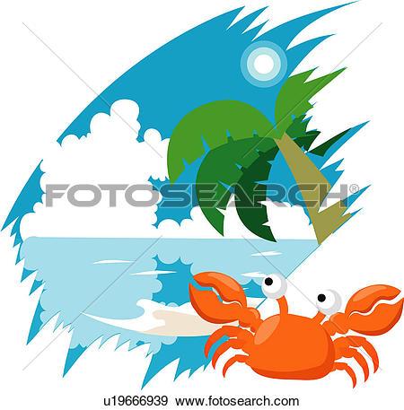 Clip Art of crawfish, arthropod, crustacean, anthropoda.