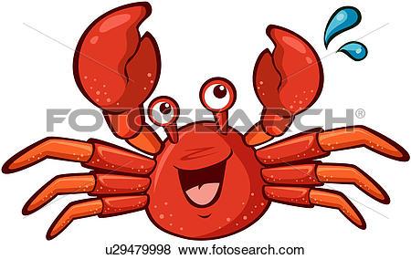 Clip Art of crustacea, character, arthopod phylum, arthropod.