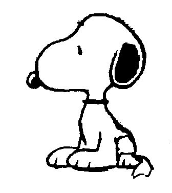 Free Snoopy Clip Art black and white.