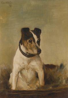 White Terrier by Henriette Ronner.