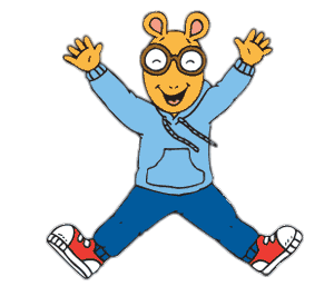 Arthur Jumping In the Air transparent PNG.