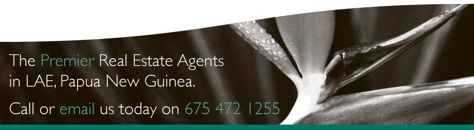 Lae's Premier Real Estate Agents.