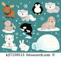 Arctic animal Clip Art EPS Images. 2,591 arctic animal clipart.