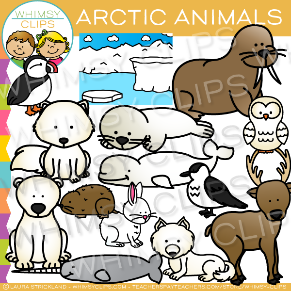 Arctic Animals Clip Art , Images & Illustrations.