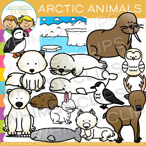 Arctic Animals Clip Art , Images & Illustrations.