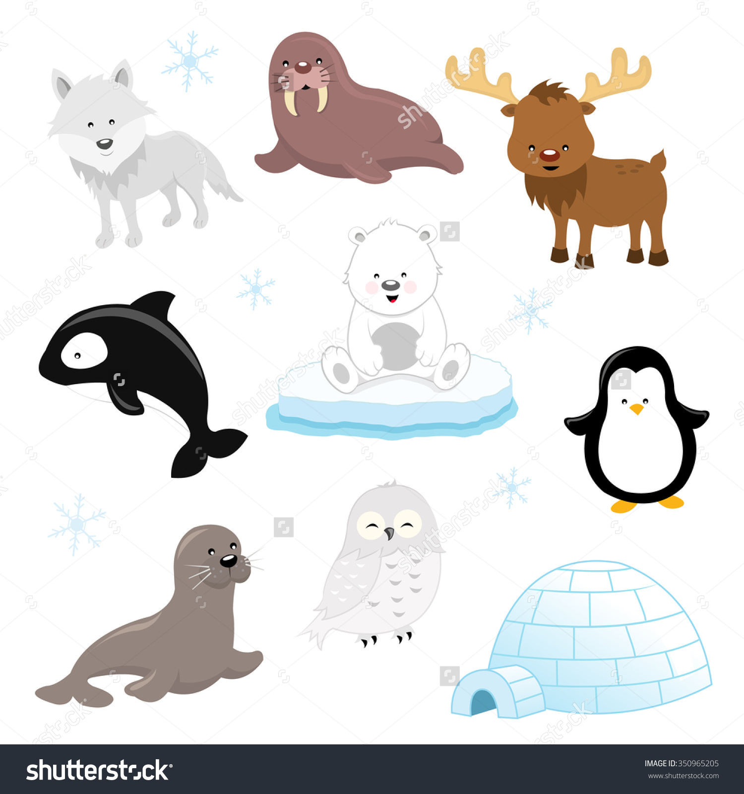 Showing post & media for Cartoon baby arctic animals.