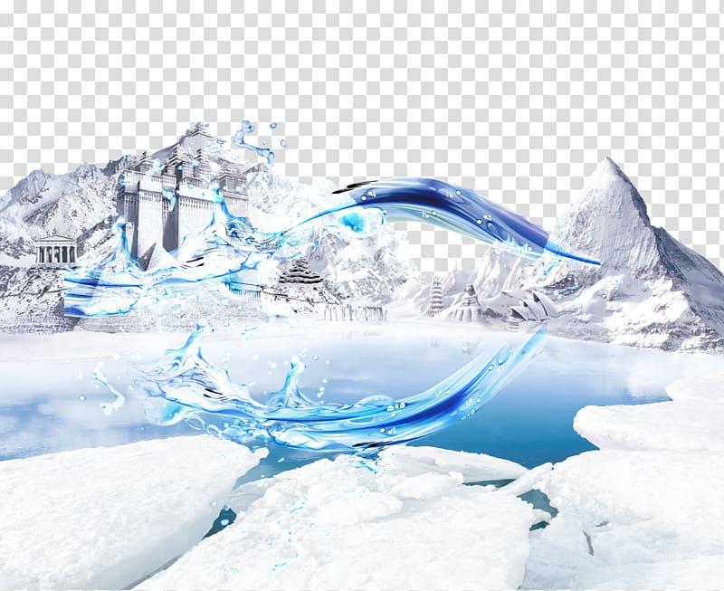 Polar bear Snow AliExpress , iceberg transparent background.