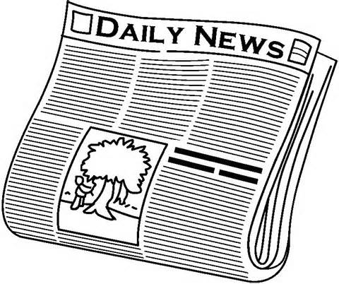 Newspaper Clipart Black And White.