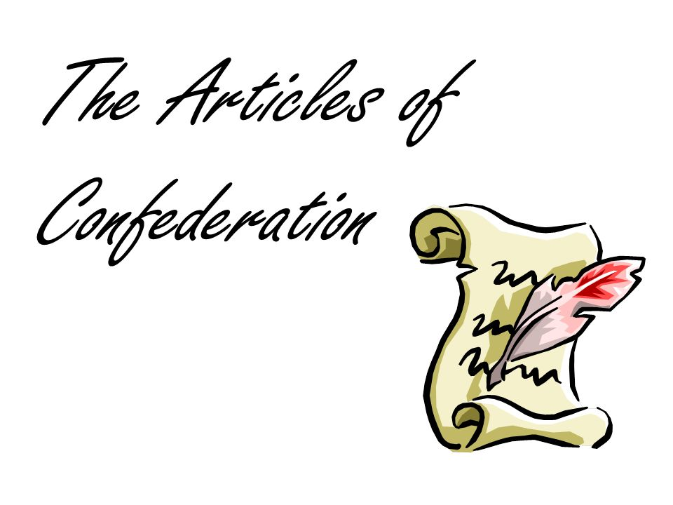 The Articles of Confederation » Clipart Station.