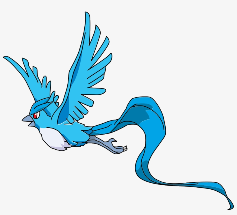 Articuno Transparent Flying.