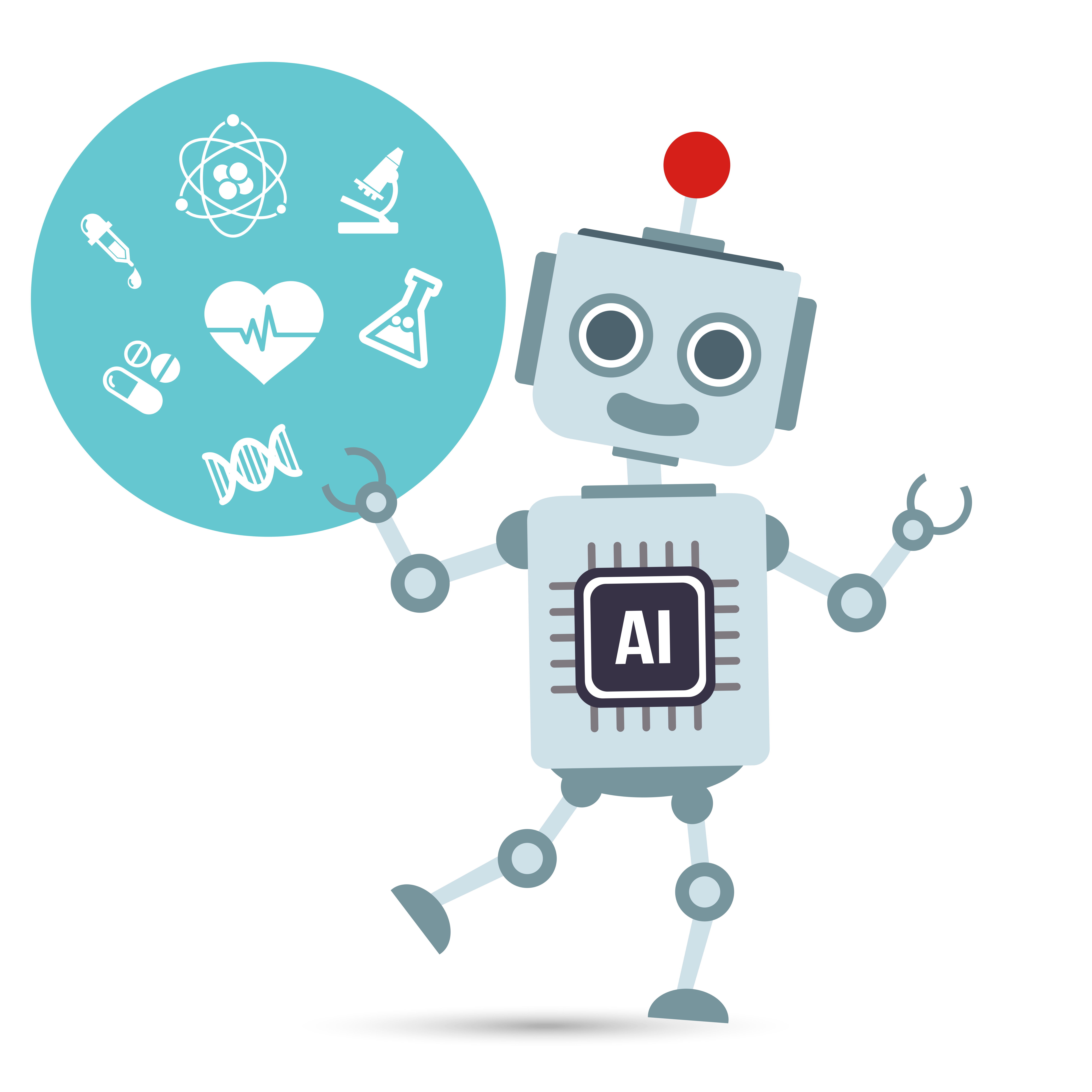AI Artificial intelligence Technology robot with medical.