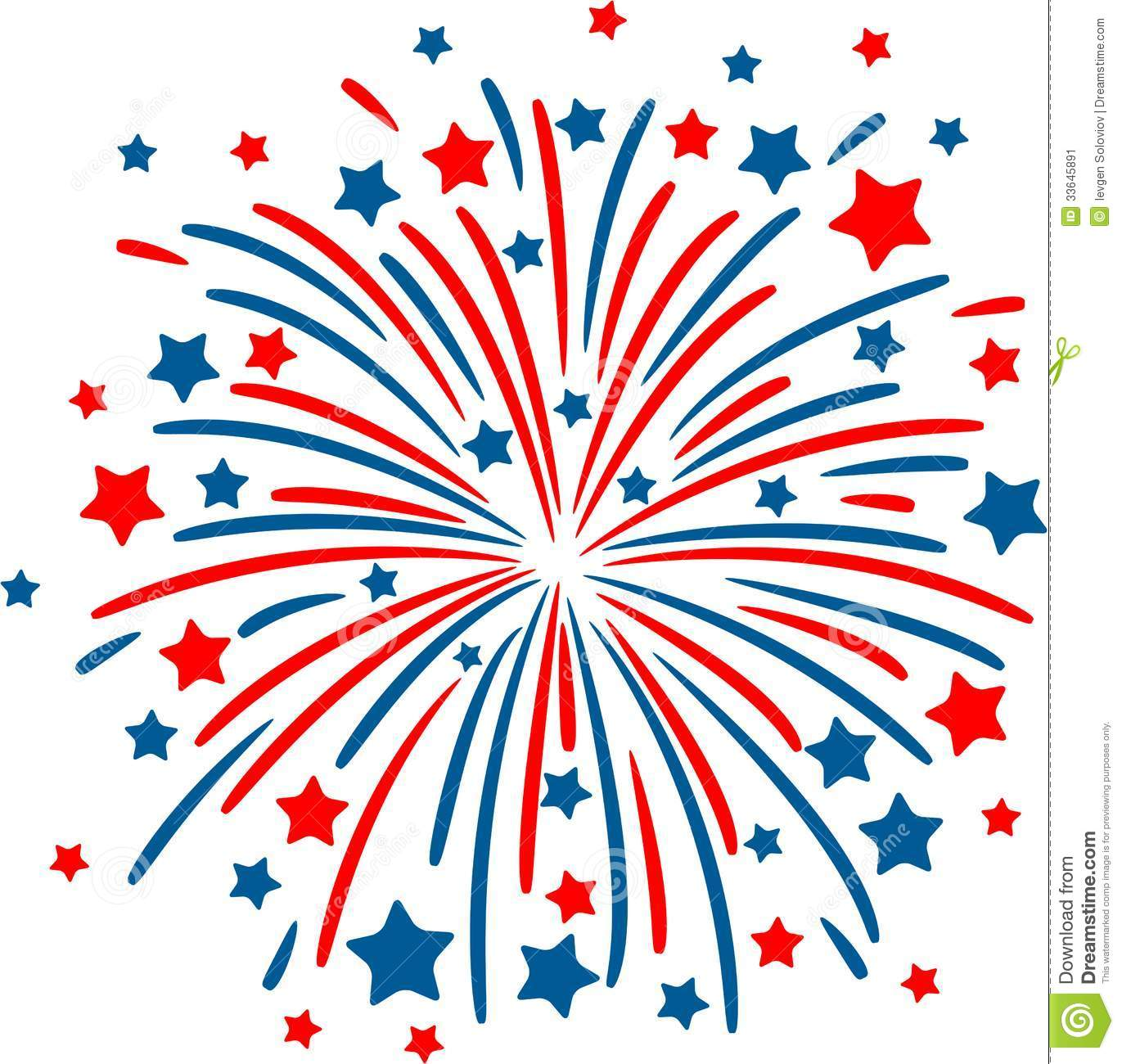 red white and blue firework clipart #18