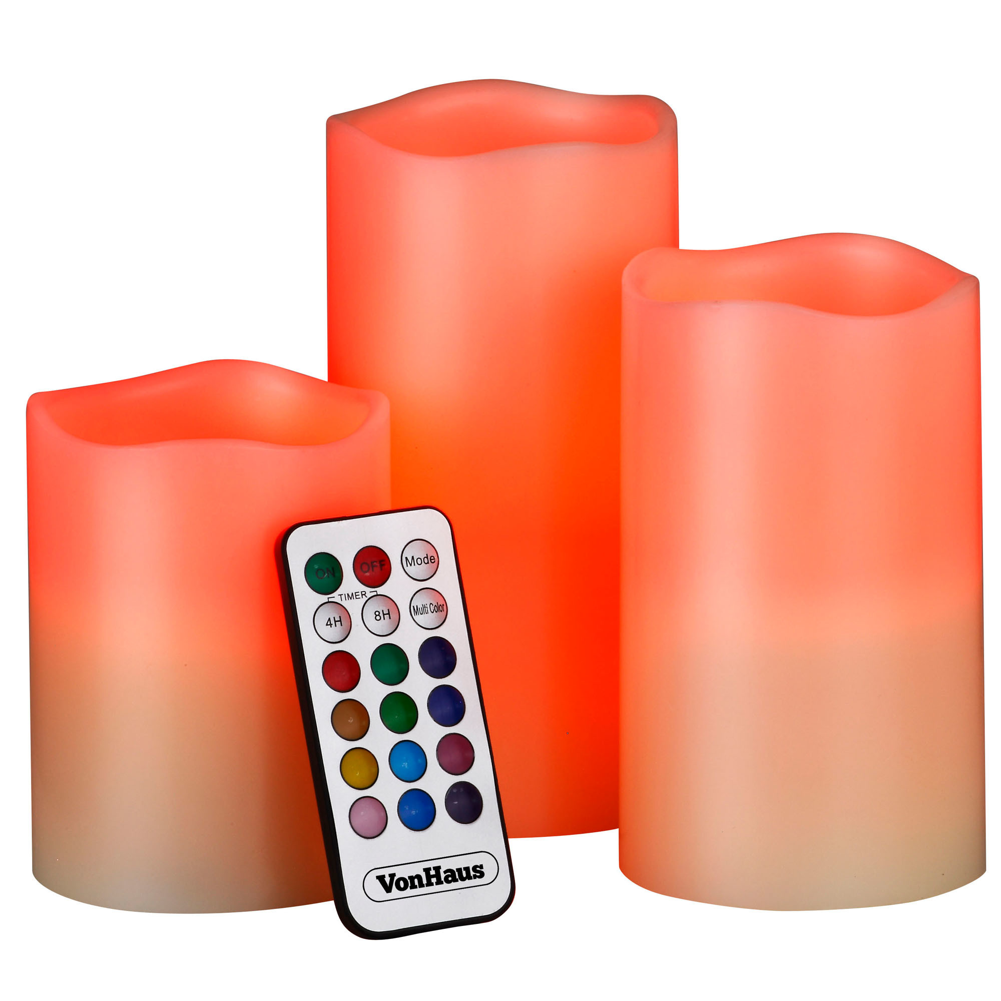 VonHaus 3 Piece Flameless Candle Set & Reviews.