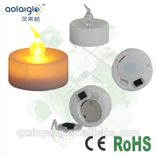 White Base Artificial Flame Candles.