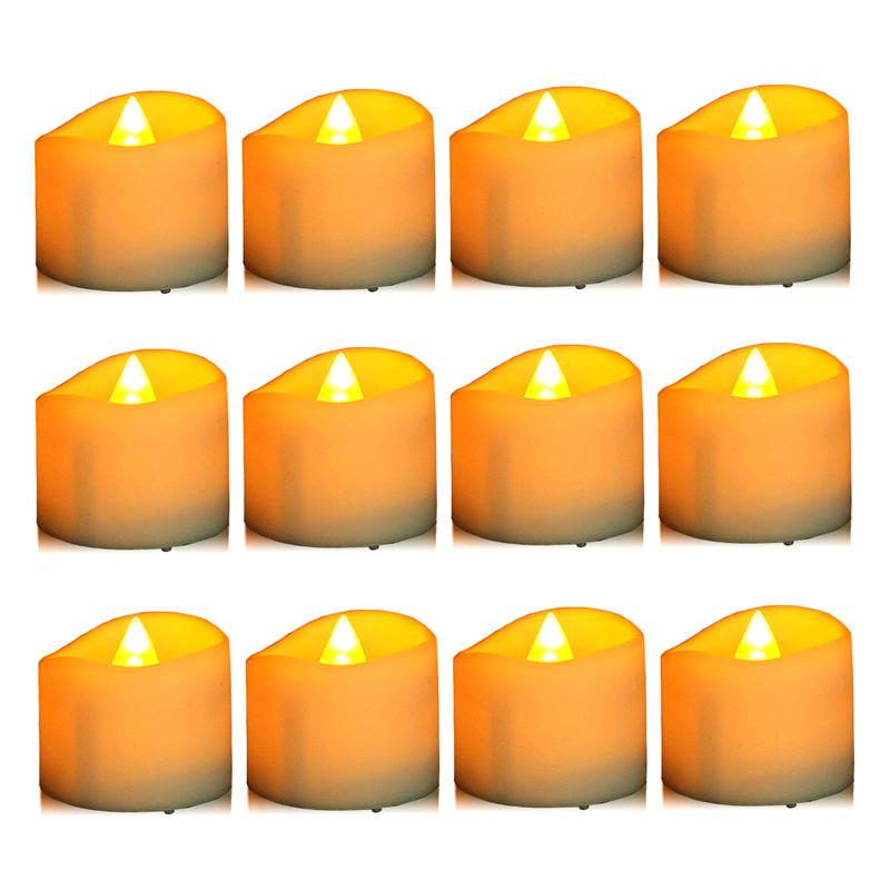 Realistic Bright Flickering Tea Light Led Electronic Candle.