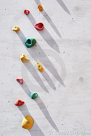 Climbing Wall Royalty Free Stock Images.