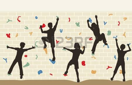 Climbing Wall Stock Illustrations, Cliparts And Royalty Free.